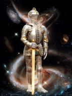 Fantasy picture of star warrior