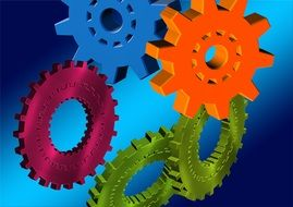 gears function together interaction N2