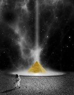pyramid in space