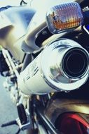 Closeup photo of motorbike detail