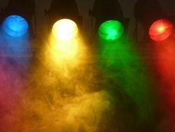 colorful spotlight fog