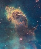 The Carina Nebula is a large, complex area of bright and dark nebulosity in the constellation Carina