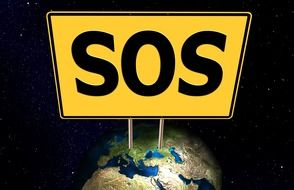 sos earth drawing