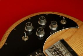 photo of electric guitar close-up