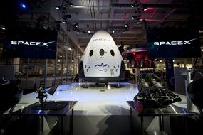 spacex module at the exhibition