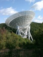 Photo of White radio telescope
