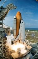 launch of space shuttle