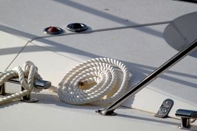twisted rope on a yacht