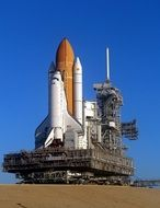 discovery space shuttle rocket