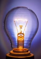 light bulb glow lamp immediately