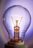 transparent light bulb glow lamp immediately