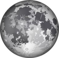 gray planet as a graphic image