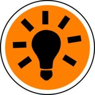 electric light lamp icon
