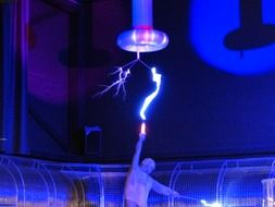 tesla coil in the museum