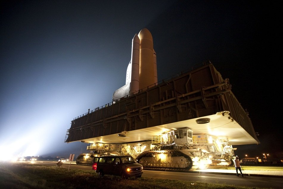 rollout of the famous atlantis space shuttle