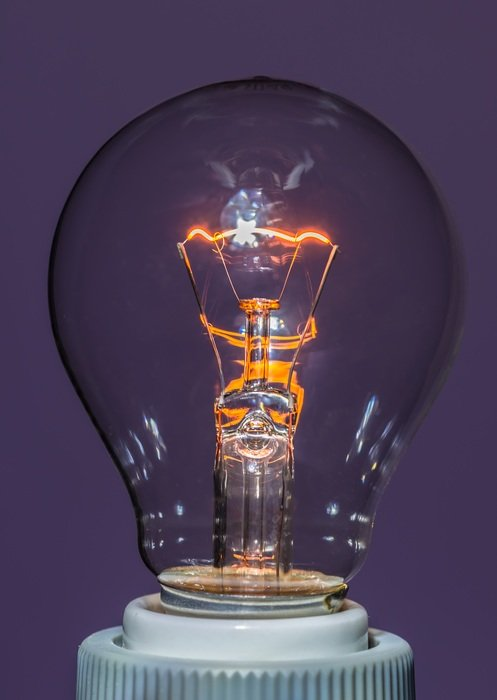 Powerful incandescent lamp