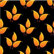 Autumnal leaves seamless pattern N2