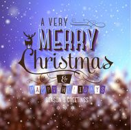 Christmas Greeting Card Merry lettering N4