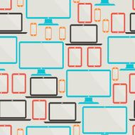 Seamless pattern with electronic devices N2