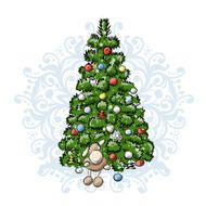 Christmas tree sketch for your design N2