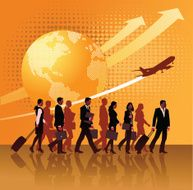 Global Business Travel - Businessmen Commuting