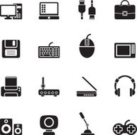 Silhouette Computer equipment and periphery icons