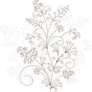Abstract floral pattern art ornament vector illustration