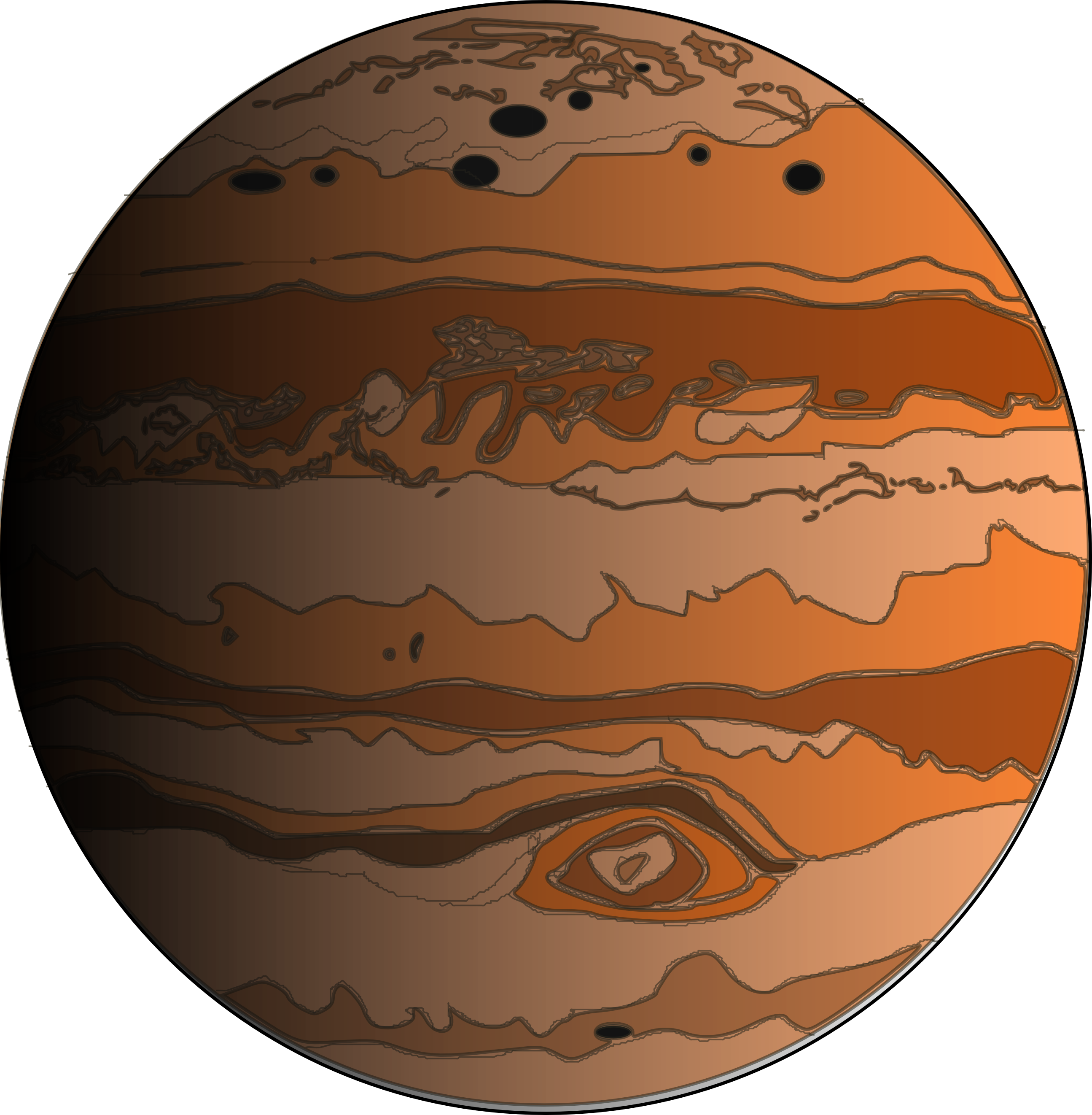 Drawing of the planet jupiter close-up free image