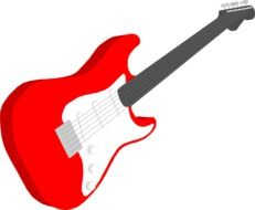 red rock electric guitar