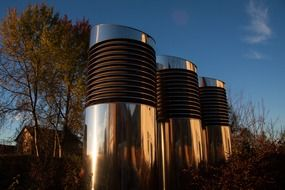metal ventilation pipes