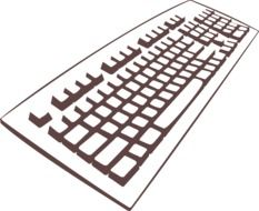 keyboard buttons drawing
