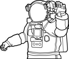 graphic image of an astronaut