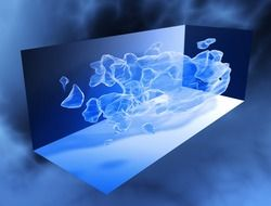 blue abstract 3d structure