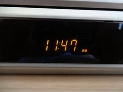 photo of digital clock