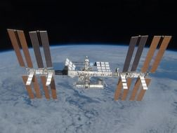 international space station solar modules