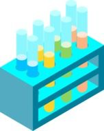 Test tubes in the laboratory clipart