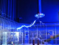 tesla coil in the museum of technology