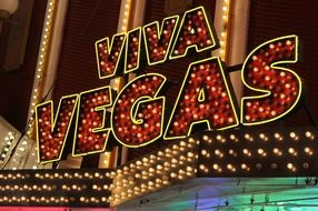 neon sign viva vegas
