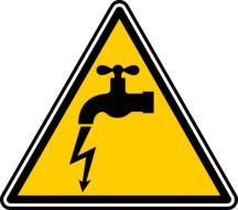 danger electric sign drawing