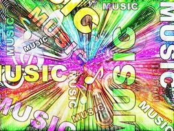 abstract music colorful sound