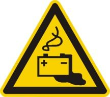 Clipart of battery warning sign