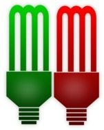 red and green bulbs