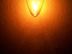 bright glowing light bulb