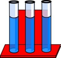 Clipart of blue liquid in a test tubes