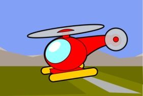 helicopter red drawing