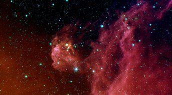 emission nebula in the orion constellation