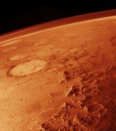 panorama of a red planet