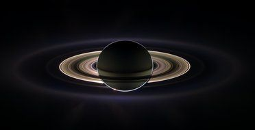 Saturn with the ring system clipart