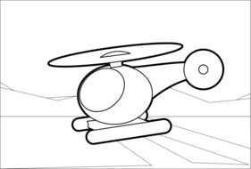 helicopter as a drawing