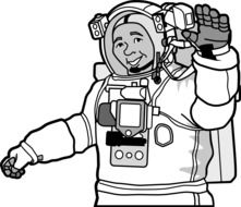 astronaut space drawing